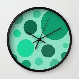 Green Circle Pattern Wall Clock