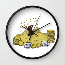 Happy As A Niffler! Wall Clock