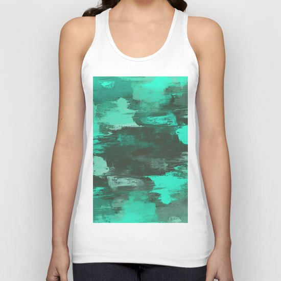 Chill Factor - Abstract cyan blue painting Unisex Tank Top