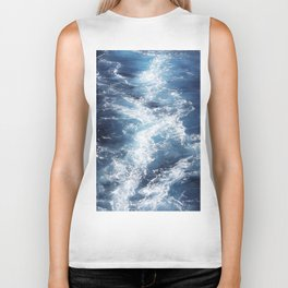 Marble Sea Waves Biker Tank