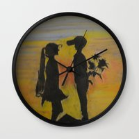 childish gambino Wall Clocks featuring Childish Love by Love Art Wonders by God Nickyart