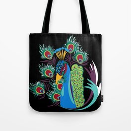 Lady Peacock - (The Marvelous Colors of a Lollipop) Tote Bag