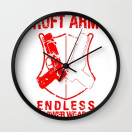 Croft Arms - TR1 title colors Wall Clock