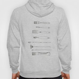 Paint Brush Illustration  Hoody