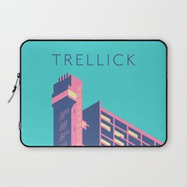 Trellick Tower London Brutalist Architecture - Text Sky Laptop Sleeve