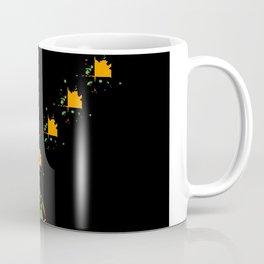 Orange and Green Spaces 110 Coffee Mug