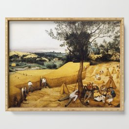 The Harvesters Painting by Pieter Bruegel the Elder Serving Tray
