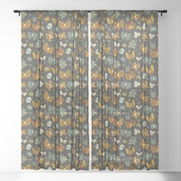 Love Bugs on Gray Sheer Curtain