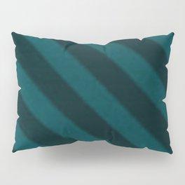 Vintage Candy Stripe Turquoise Teal Grunge Stripes Pillow Sham