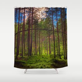 Magical Forest (Color) Shower Curtain