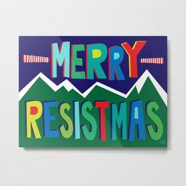 Merry Resistmas Metal Print