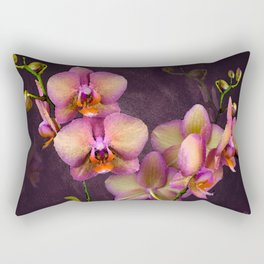 Sunrise Tropical Orchids Rectangular Pillow