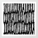 Vertical Dash White on Black Paint Stripes by followmeinstead