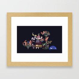 Monkeys and fruits Framed Art Print
