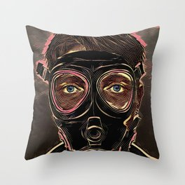 INFERNO MASK DOWNFALL Throw Pillow