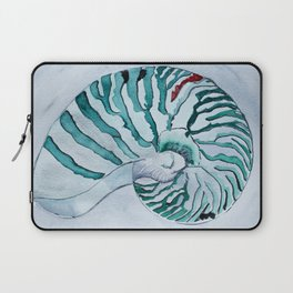 Turquoise Nautilus Shell painting watercolor Laptop Sleeve