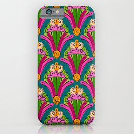Hand-Drawn Deco Fan in Gelati Brights (Pattern) iPhone Case
