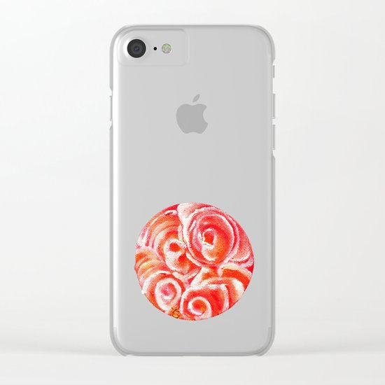 Peach Plum Dreams Clear iPhone Case