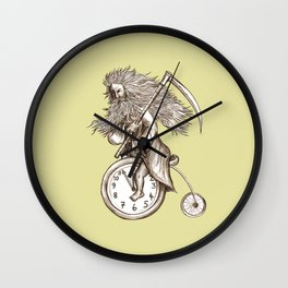 Father Time on a Penny Farthing Wall Clock