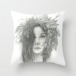 Brigid, Celtic Triple Goddess Throw Pillow