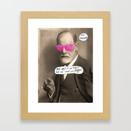 Sigmund Freud does not want to hear about your mother Framed Art Print