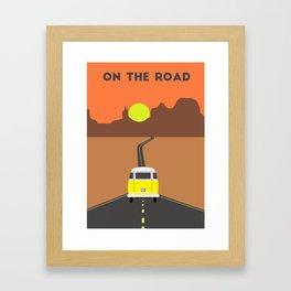 On the road (Yellow van) Framed Art Print