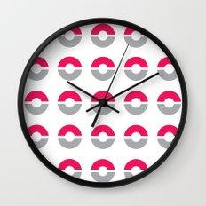 Pokéball Pattern Wall Clock