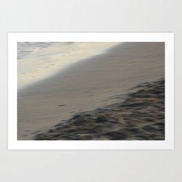 Beach section - abstract seascape Art Print