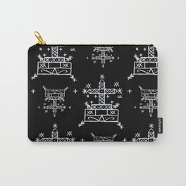 Baron Samedi Voodoo Veve Symbols in Black Carry-All Pouch