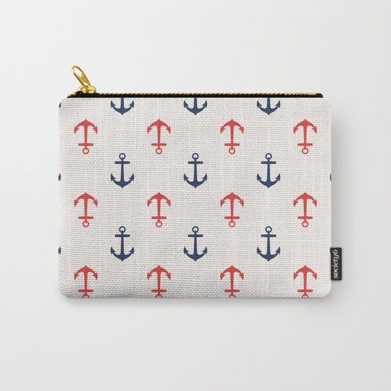 Nautical anchor pattern Carry-All Pouch
