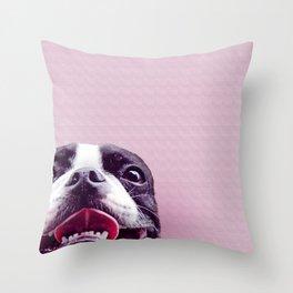 Boston Face Throw Pillow