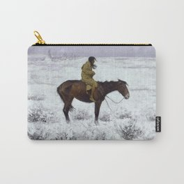 Frederic Remington - The Herd Boy, 1910 Carry-All Pouch