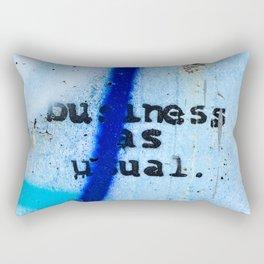 Buisness as Usual Rectangular Pillow