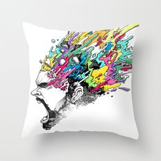 INKS'PLOSION Throw Pillow