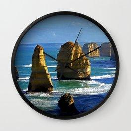 Limestone Rock Stacks - Twelve Apostles Wall Clock