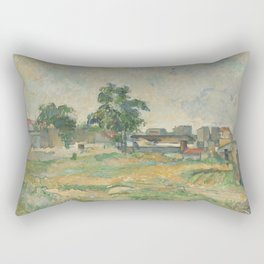 Paul Cézanne - Landscape near Paris Rectangular Pillow