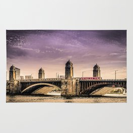 Longfellow Bridge, Boston MA Rug