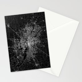 Indianapolis map Stationery Cards