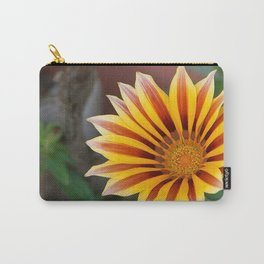 Close Up Tiger Gazania in Red, Gold and Green  Carry-All Pouch