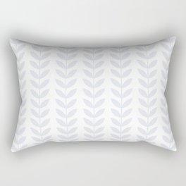 Light Grey Scandinavian leaves pattern Rectangular Pillow