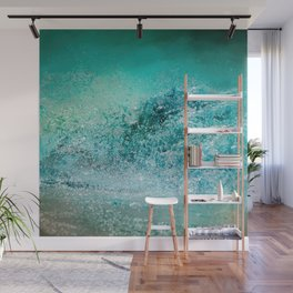 Turquoise Wave - Blue Water Scene Wall Mural
