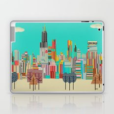 Chicago city (summer days) Laptop & iPad Skin