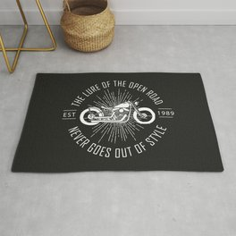 The lure of the open road never goes out of style Rug