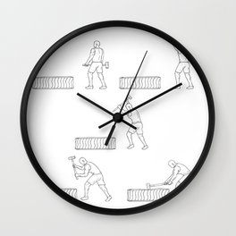 Fitness Athlete Hammer Workout Collection Set Wall Clock