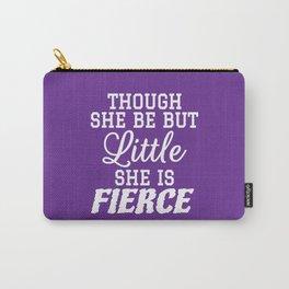 Little & Fierce (Purple) Carry-All Pouch