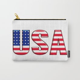United States Font with American Flag Carry-All Pouch