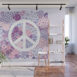 Peace and love Wall Mural
