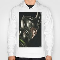 loki Hoodies featuring Loki by Hilary Rodzik