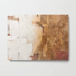 Background with white, brown and gray Metal Print