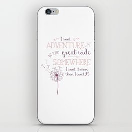 Great Wide Somewhere iPhone Skin